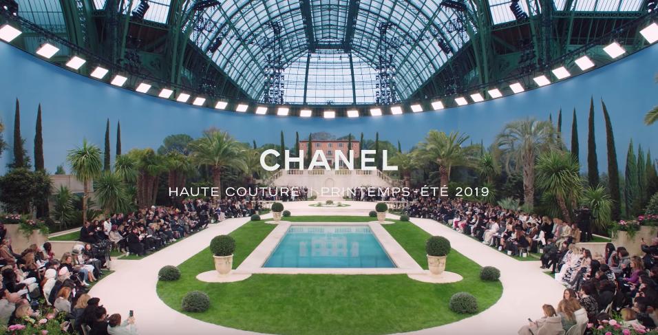 Figure 6. Screenshot of CHANEL's fashion show video on Youtube 's