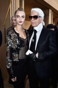 figure 5. Cara Delevingne and Karl Lagerfeld