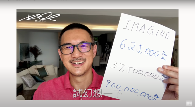 Figure 1: Screen capture from YouTube: Brian Cha Motivation