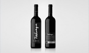 Valonga olive oil bottle with Homeless Font